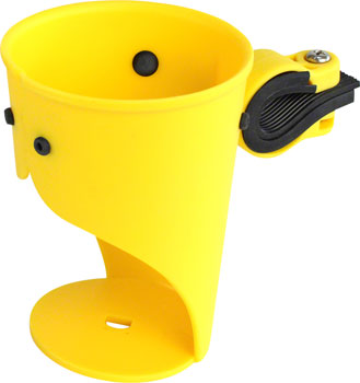 Delta Grande Beverage Holder/ Water Bottle Cage: Handlebar Mounted Yellow