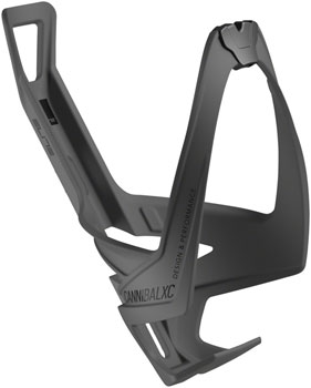 Elite Cannibal XC Skin Water Bottle Cage: Black/Black Graphic
