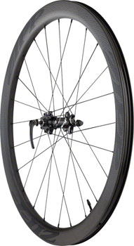 Zipp 303 Carbon Clincher Tubeless Disc Brake Front Wheel, 700c, 24 Spokes, 77D, Black Decal