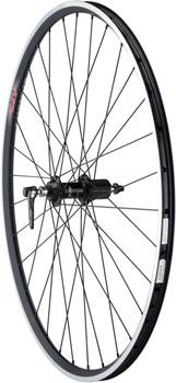 Quality Wheels 105/A23 Rear Wheel - 700, QR x 130mm, Rim Brake, HG 11, Black, Clincher