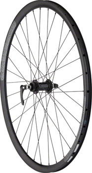 Quality Wheels Front Road Disc 700c 100mm QR and 15mm Convertible 32h Formula / Aileron / DT Factory All Black