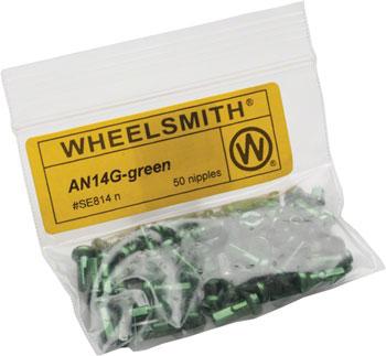 Wheelsmith 2.0 x 12mm Silver Alloy Nipples Bag of 50