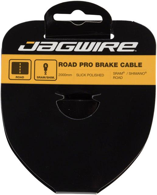 Jagwire Pro Brake Cable 1.5x2000mm Pro Polished Slick Stainless SRAM//Shimano
