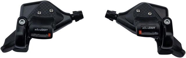 Optical Gear Indicator, 8-Speed microSHIFT Mezzo Thumb-Tap Shifter Set Triple