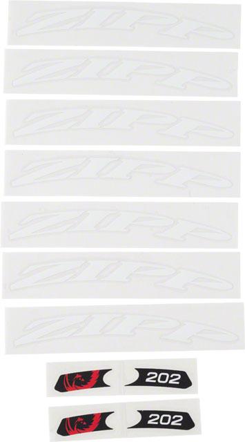 Bikeman Zipp Decal Set: 202 Matte White Logo, Complete for One Wheel