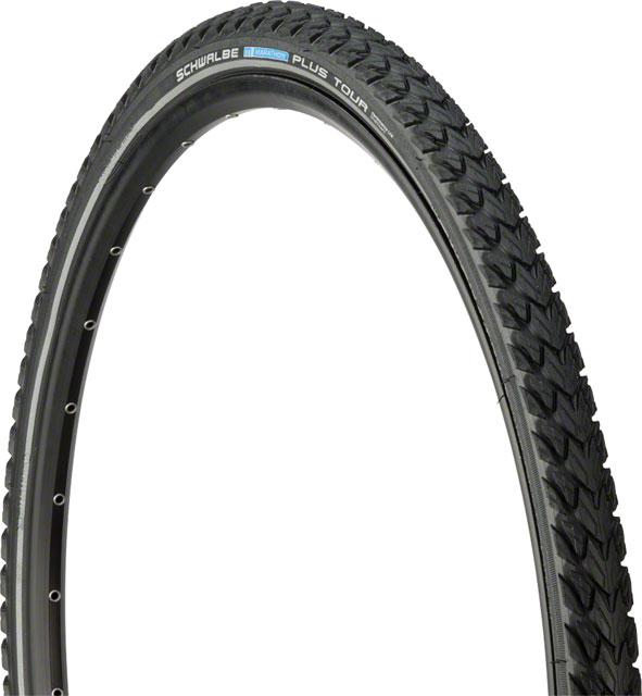 New Schwalbe Marathon Plus Tour Tire 700x35 Wire Bead Black with Reflective