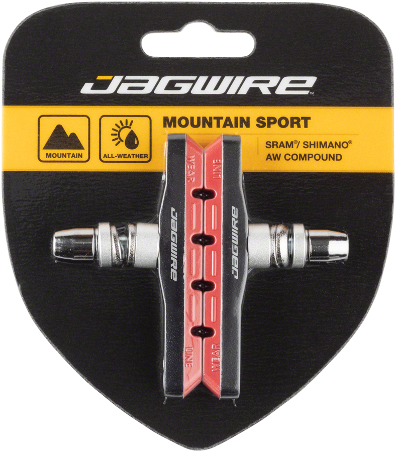 Jagwire Mountain Sport Brake Pads Threaded Post Red