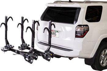 Saris SuperClamp EX Hitch Rack: 4 Bike, 2 Receiver, Black