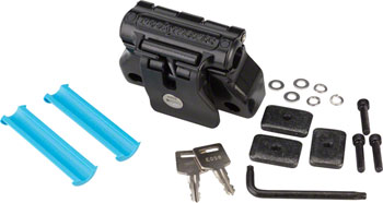 RockyMounts DriveShaft Track Locking Thru-Axle Bike Mount for 12.0 15.0 and 20.0mm front thru axles, Black