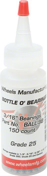 Wheels Manufacturing Grade 25 3/16 Loose Ball Bearing: Bottle of 150