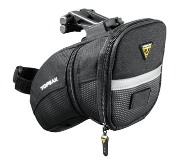 Topeak Aero Wedge Seat Bag: Medium, Black