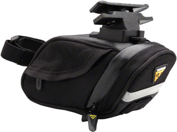 Topeak Aero Wedge DX Seat Bag with Mount: Small, Black