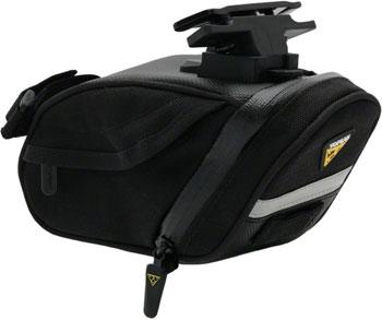 Topeak Aero Wedge DX Seat Bag with Mount: Medium, Black