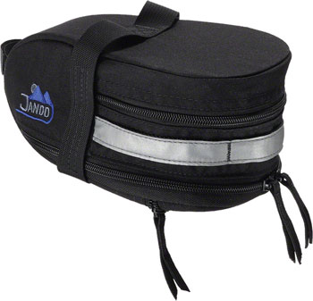 Jandd Mountain Wedge Expandable Seat Bag: Black