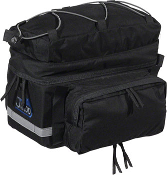 Jandd Rear Rack Pack with Side Panniers: Black