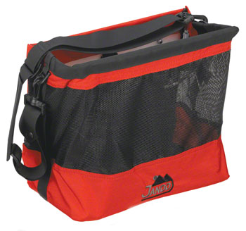 Jandd Grocery Bag Pannier: Single Red/Black