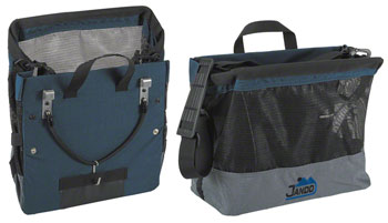 Jandd Grocery Bag Pannier: Single Blue/Black