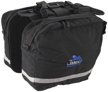 Jandd Saddle Bag Pannier Set: Black