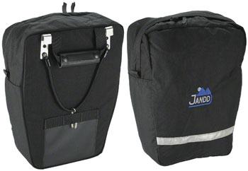 Jandd Economy Pannier Set: Black