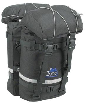Jandd Mountain Pannier Set: Black