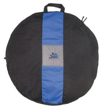 Jandd Wheel Bag: 1-Wheel Capacity Black/Blue