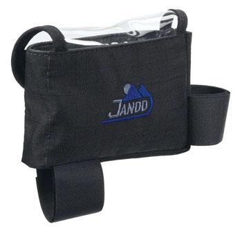 Jandd Top Tube/ Stem Bag: Clear-top with velcro closure Black Medium