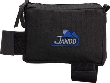 Jandd Top Tube/ Stem Bag: Zipper closure Black Medium
