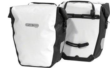 Ortlieb Back-Roller City Rear Pannier: Pair~ White/Black