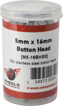 Wheels Manufacturing M5 x 16mm Button Head Cap Screw Stainless Steel Bottle/50