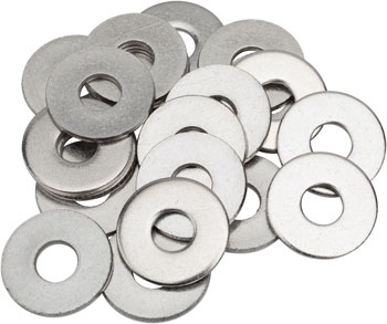M6 Stainless Flat Washer, Large O.D. Bag/20