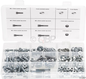 Wheels Manufacturing 6mm Fastener Kit - 310 Pieces, 10 Different Parts, Bolt Lengths 12 to 35mm