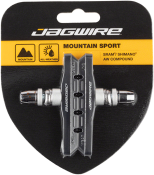 Jagwire Mountain Sport Brake Pads Threaded Post Black