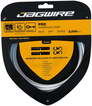 Jagwire Pro Hydraulic Disc Brake Hose Kit 3000mm, White