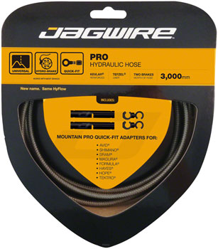 Jagwire Pro Hydraulic Disc Brake Hose Kit 3000mm, Carbon Silver