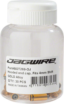 Jagwire Hooded End Cap 5mm Brake Bottle of 30, Gold