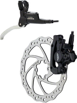 Tektro Auriga Comp Rear 160mm Hydraulic Disc Brake Black with Silver/Black  Brake Lever