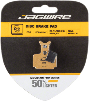 Jagwire Mountain Pro Alloy Backed Semi-Metallic Disc Brake Pads for Formula T1, R1, RX, MEGA, RO