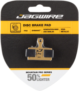 Jagwire Pro Semi-Metallic Disc Brake Pads for Shimano M9000, M9020, M985, M8000, M785, M7000, M666, M675, M615, S700, R785, RS785, CX77, CX7