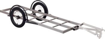 Surly Bill Trailer: Long Bed, 16 Wheels, Gray