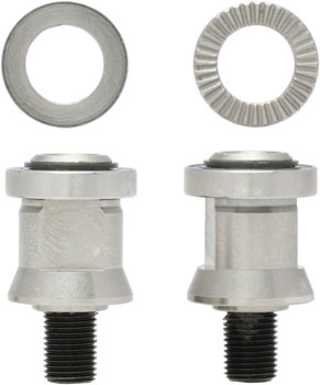 Surly Trailer Hitch Mount Axle Nuts: Fits 10x1mm Threaded Axles or Surly Direct-Frame Mounting, Pair