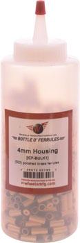 Wheels Manufacturing Bulk Housing End Caps: 4mm Brass, Bottle of 500