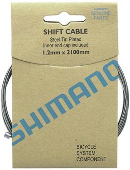 Shimano Zinc Derailleur Cable 1.2 x 2100mm 10-pack