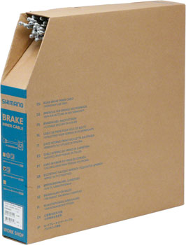 Shimano Stainless Road Brake Cable 1.6 x 2050mm, Filebox of 100
