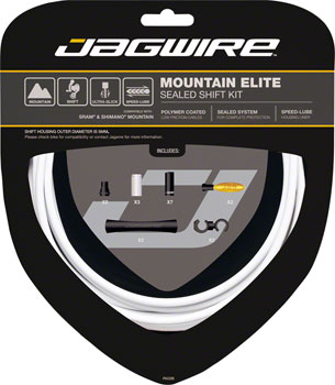 Jagwire Mountain Elite Sealed Shift Cable Kit, White