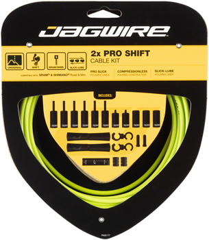 Jagwire Pro Shift Kit Road/Mountain SRAM/Shimano, Organic Green