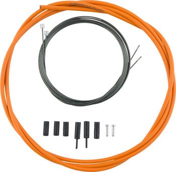 Shimano Road Optislick Derailleur Cable and Housing Set, Orange