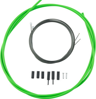 Shimano Road Optislick Derailleur Cable and Housing Set, Green