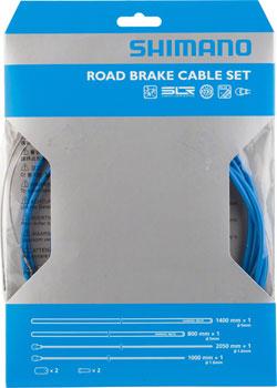 Shimano Road PTFE Brake Cable and Housing Set, Blue