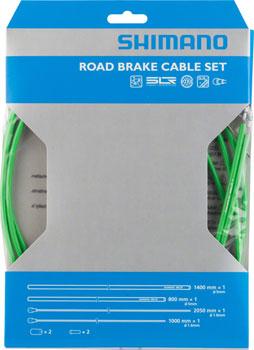 Shimano Road PTFE Brake Cable and Housing Set, Green