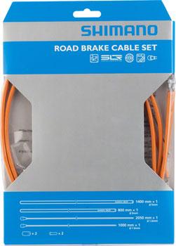 Shimano Road PTFE Brake Cable and Housing Set, Orange